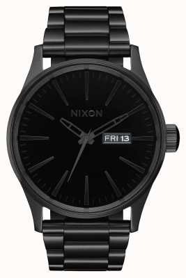 Nixon Sentry SS | All Black / Black | Black IP Steel Bracelet | Black Dial A356-1147-00