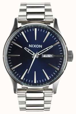 Nixon Sentry SS | Blue Sunray | Stainless Steel Bracelet | Blue Dial A356-1258-00