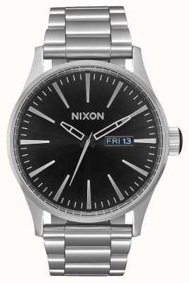 Nixon Sentry SS | Black Sunray | Stainless Steel Bracelet | Black Dial A356-2348-00