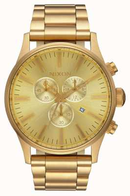Nixon Sentry Chrono | All Gold | Gold IP Steel Bracelet | Gold Dial A386-502-00