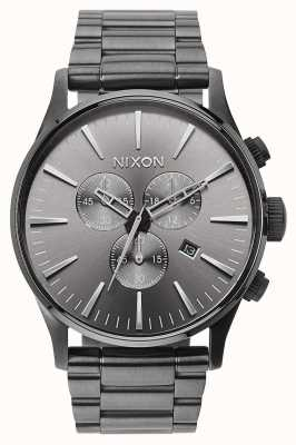 Nixon Sentry Chrono | All Gunmetal | Gunmetal IP Steel Bracelet | Gunmetal Dial A386-632-00