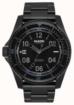 Nixon Descender | All Black / Black | Black IP Steel Bracelet | Black Dial A959-1147-00
