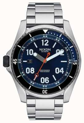 Nixon Descender | Blue Sunray | Stainless Steel Bracelet | Blue Dial A959-1258-00