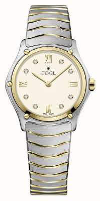 EBEL Women's Sport Classic | Two-Tone Stainless Steel Bracelet | Ivory Dial 1216418A