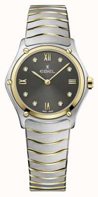 EBEL Women's Sport Classic | Two-Tone Steel Bracelet | Grey Diamond Dial 1216419A