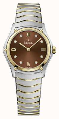 EBEL Women's Sport Classic | Two-Tone Stainless Steel Bracelet | Brown Dial 1216445A