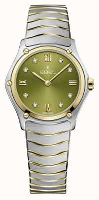EBEL Women's Sport Classic | Two-Tone Steel Bracelet | Green Dial 1216473A