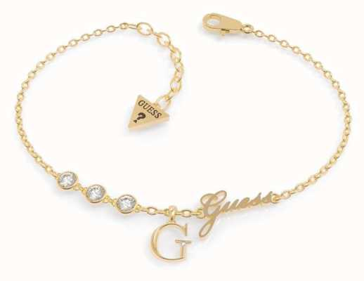 Guess Miniature Gold Plated 'G' Charm Bracelet UBB79039-L