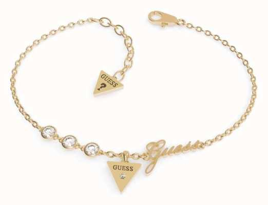 Guess Miniature Gold Plated Triangle Charm Bracelet UBB79045-L