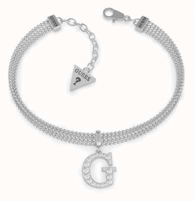 Guess G-Multi Chain | Pave Chain Bracelet | Rhodium Plated UBB79084-L