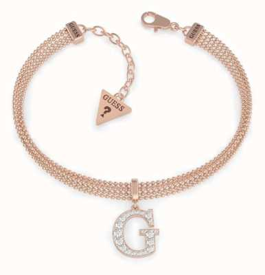 Guess G-Multi Chain | Rose Gold Pave Chain Bracelet UBB79086-L