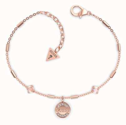 Guess Nature Girl | Rose Gold Plated Logo Coin Bracelet UBB79131-L