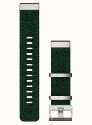 Garmin QuickFit 22 Jacquard-Weave Nylon Green Strap 010-13008-00- NO BOX