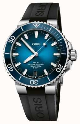 ORIS Aquis Date | Calibre 400 120 Hours | Silicone Strap | Blue Dial 01 400 7763 4135-07 4 24 74EB