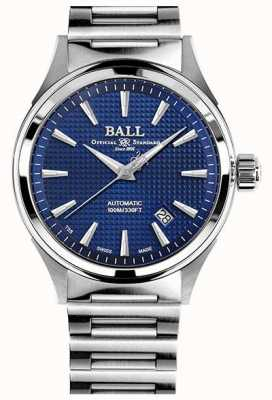 Ball Watch Company Fireman Victory | Steel Bracelet | Clous De Paris Blue NM2098C-S5J-BE