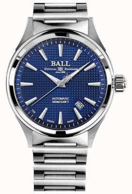 Ball Watch Company Fireman Victory | Steel Bracelet | Clous De Paris Blue NM2098C-S5J-BE