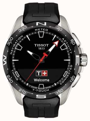 Tissot T-Touch Connect Solar | Black Silicone Strap T1214204705100
