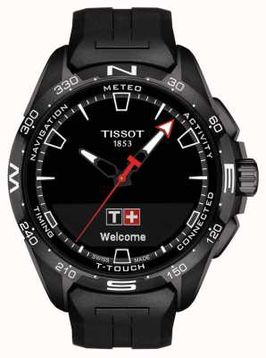 Tissot T-Touch Connect Solar | Black Silicone Strap T1214204705103