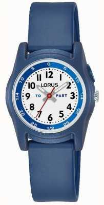 Lorus Lorus Kids Time Teacher With Blue Silicone Strap Watch R2355NX9