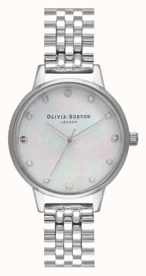 Olivia Burton Classics | Stainless Steel Bracelet | Mother Of Pearl Dial OB16SE09