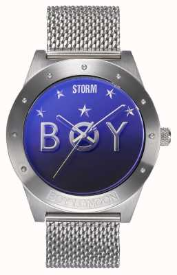 STORM Boy Star Lazer Blue | Limited Edition | Steel Mesh Bracelet 47484/LB