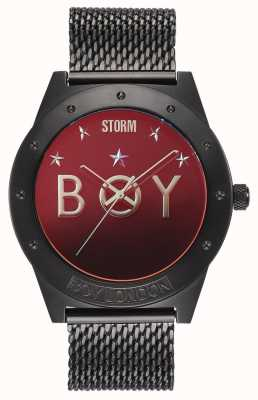 STORM Boy Star Slate Lazer Red | Limited Edition | Slate Mesh Bracelet 47484/SL/R