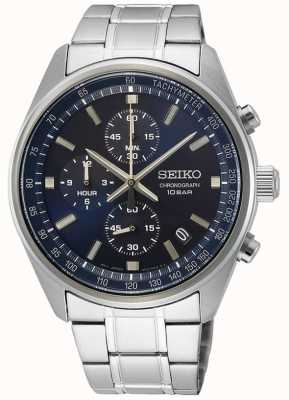 Seiko Men's Stainless Steel Bracelet | Blue Chronograph Dial SSB377P1