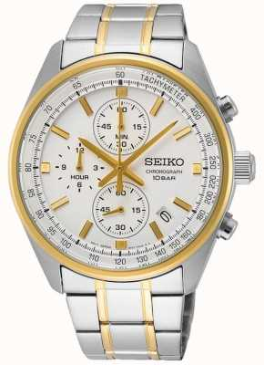 Seiko Men's Stainless Steel Bracelet | White Dial SSB380P1