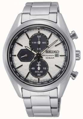 Seiko Men's Solar | Stainless Steel Bracelet | Silver Chronograph Dial SSC769P1