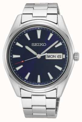 Seiko Men's Stainless Steel Bracelet | Blue Dial SUR341P1
