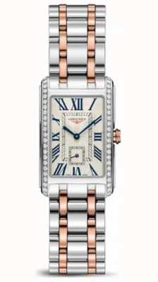 Longines DolceVita Stainless Steel 18 Karat Pink Gold Crown L52555797