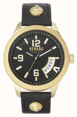 Versus Versace | Men's | Reale | Black Leather Strap | Black Dial | VSPVT0220