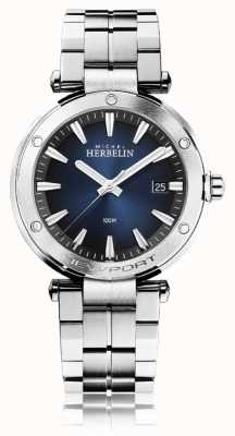 Michel Herbelin Men's Newport | Stainless Steel Bracelet | Blue Dial 12288/B15