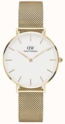 Daniel Wellington | Petite 32 | Evergold | Gold Mesh Bracelet | White Dial | DW00100348