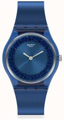 Swatch SIDERAL BLUE | Original Gent | Blue Silicone Strap | Blue Dial GN269