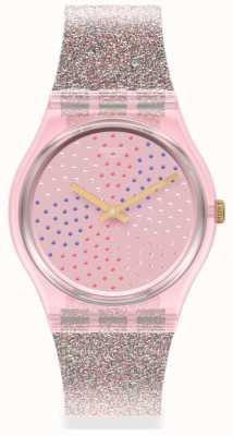 Swatch MULTILUMINO | Original Gents | Glitter Silicone Strap | Sparkle Dial GP168