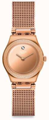 Swatch LUMINESCENT ROSE | Irony Lady | Rose Gold Mesh Bracelet | Rose Dial YSG166M
