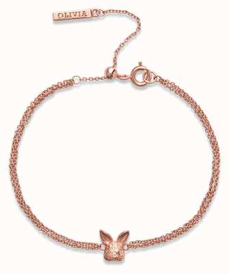 Olivia Burton 3D Bunny   Chain Bracelet   Rose Gold OBJAMB96