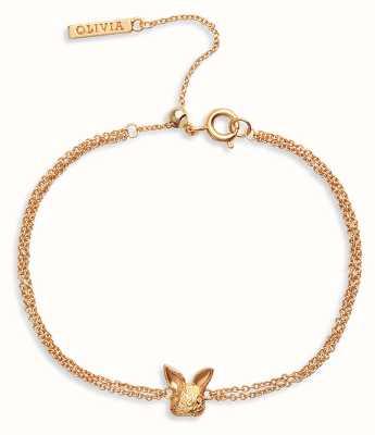 Olivia Burton 3D Bunny   Chain Bracelet   Gold OBJAMB97