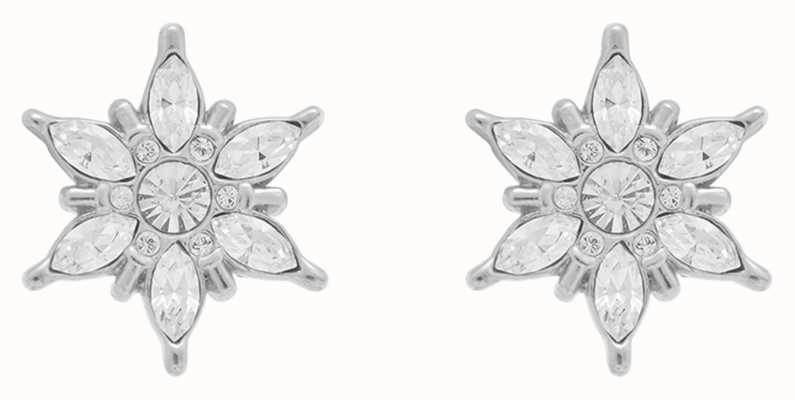 Olivia Burton Ice Queen | Silver Stud Earrings OBJIQE01