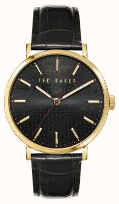 Ted Baker | Men's | Phylipa | Black Leather Strap | Black Dial | BKPPGF005