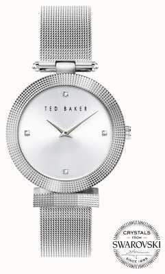 Ted Baker | Women's | Bow | Stainless Steel Mesh | Silver Dial | BKPBWF007
