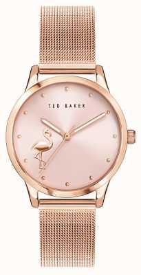 Ted Baker | Women's | Fitzrovia Flamingo | Rose Gold Mesh Bracelet | Rose Dial | BKPFZF011