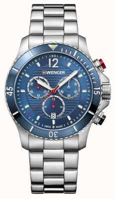 Wenger Seaforce | Chrono | Blue Dial | Stainless Steel Bracelet 01.0643.111
