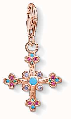 Thomas Sabo Victorian Cross Charm Pendant Cross 1493-321-7