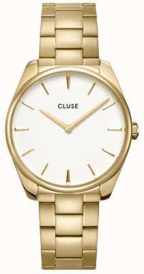 CLUSE | Féroce | Gold Tone Bracelet | White Dial | CW0101212005