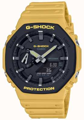 Casio | G-Shock | Carbon Core | Layered Bezel | Yellow Rubber Strap | Ex-Display GA-2110SU-9AEREX-DISPLAY