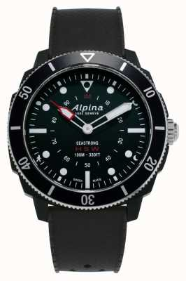 Alpina Seastrong | Horological Smartwatch | Black Silicone Strap AL-282LBB4V6