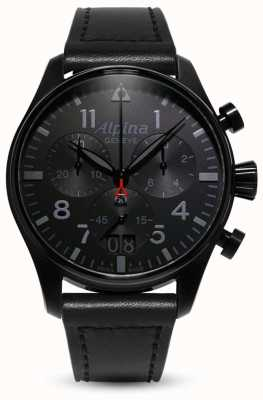 Alpina Startimer Pilot Chrono | Black Leather Strap AL-372BB4FBS6