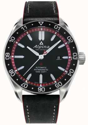 Alpina Alpiner 4 | Black Leather Strap | Black Dial | Automatic AL-525BR5AQ6